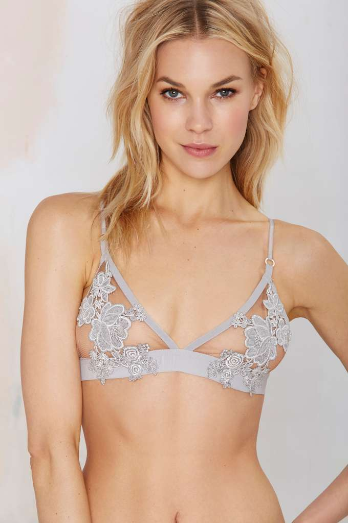 Skivvies florette mesh bralette for Mesh shirt with bralette