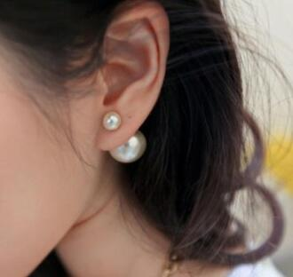 jewels earrings undefined earring pearl pearl earring pearl studded collar pearl earrings unicorn