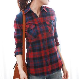 Long-Sleeve Plaid Shirt - JVL | YESSTYLE