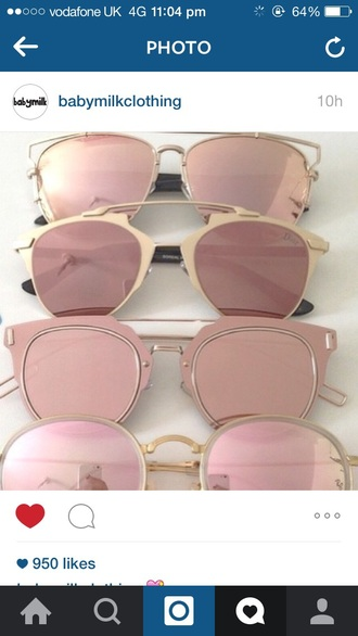 sunglasses babymilkclothing rosegold  sunglasses