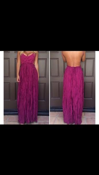 dress purple maroon burgundy  maxi dress long prom