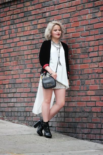 broke hell blogger dress skirt snake print white top