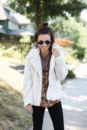 one little momma,blogger,jacket,top,pants,shoes,jewels,sunglasses,faux fur jacket,fall outfits