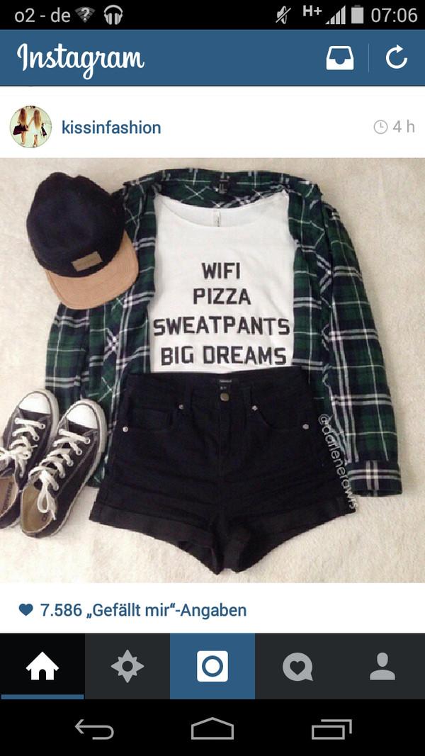 t-shirt top shorts blouse hat shirt