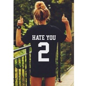 i hate everyone,black t-shirt,t-shirt