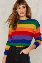 sweater,rainbow,sweatshirt,stripes,winter outfits,wool,multicolor,top,shirt