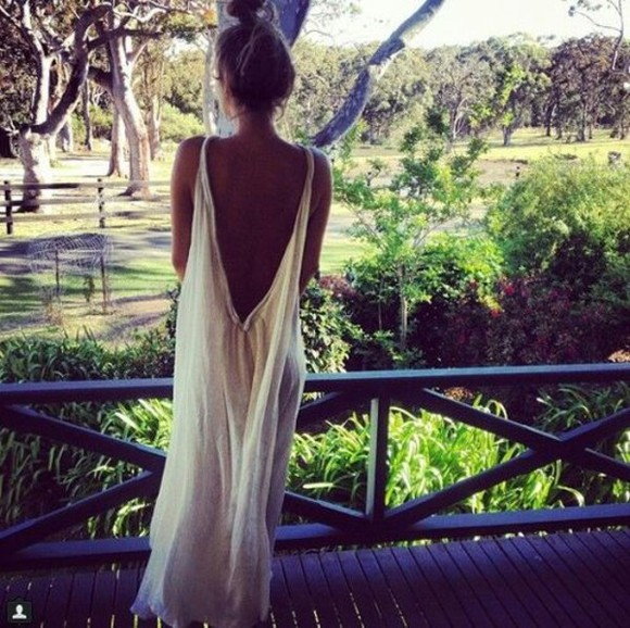 dress backless white tumblr
