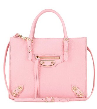 mini metallic bag shoulder bag leather pink