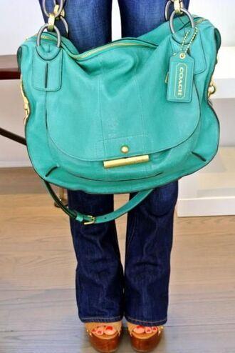 bag coach purse teal cute shoulder bag turquoise aqua coach bag coach purse crossbody bag teal coach mint