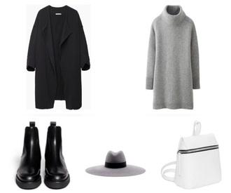 coat grunge pale grunge soft grunge tumblr pale dark black addict black coat