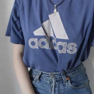 shirt adidas blue aesthetic health goth tumblr pale soft bambi grunge jeans