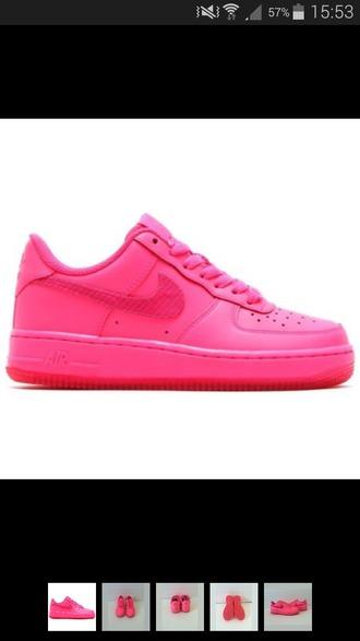 shoes pink shoes pink shoes from nike nike shoes nike air force 1 fluo vivid pink hyper pink nike air