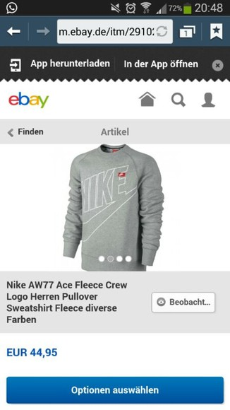 sweater grey sweater nike nike sweater