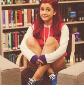 sweater,red,girly,red sweater,keds,hoodie,shorts,shoes,ariana grande,dress