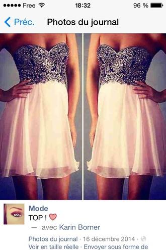 dress argenté rose bustier