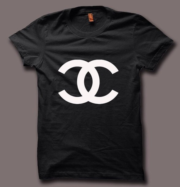 t-shirt chanel t-shirt menswear mens t-shirt style swag fashion