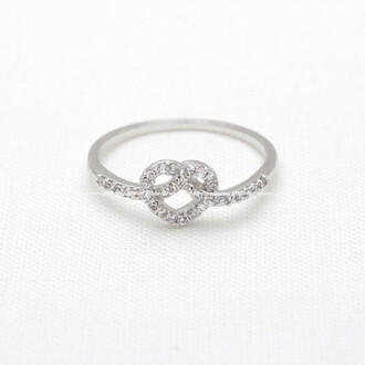ring heart ring jewels heart heart knot ring heart knot engagement ring eternity ring