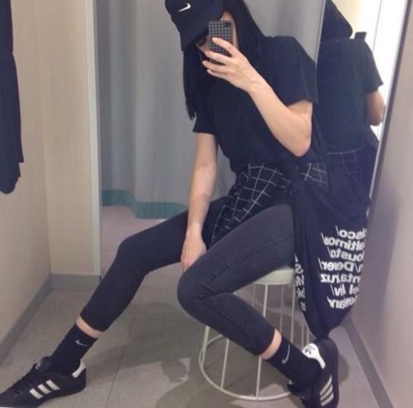 Jacket Flannel Grid Aesthetic Black Grunge Earphones