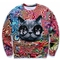 Women's 3d sweatshirt cat print street fashion size s,m,l,xl model no.001