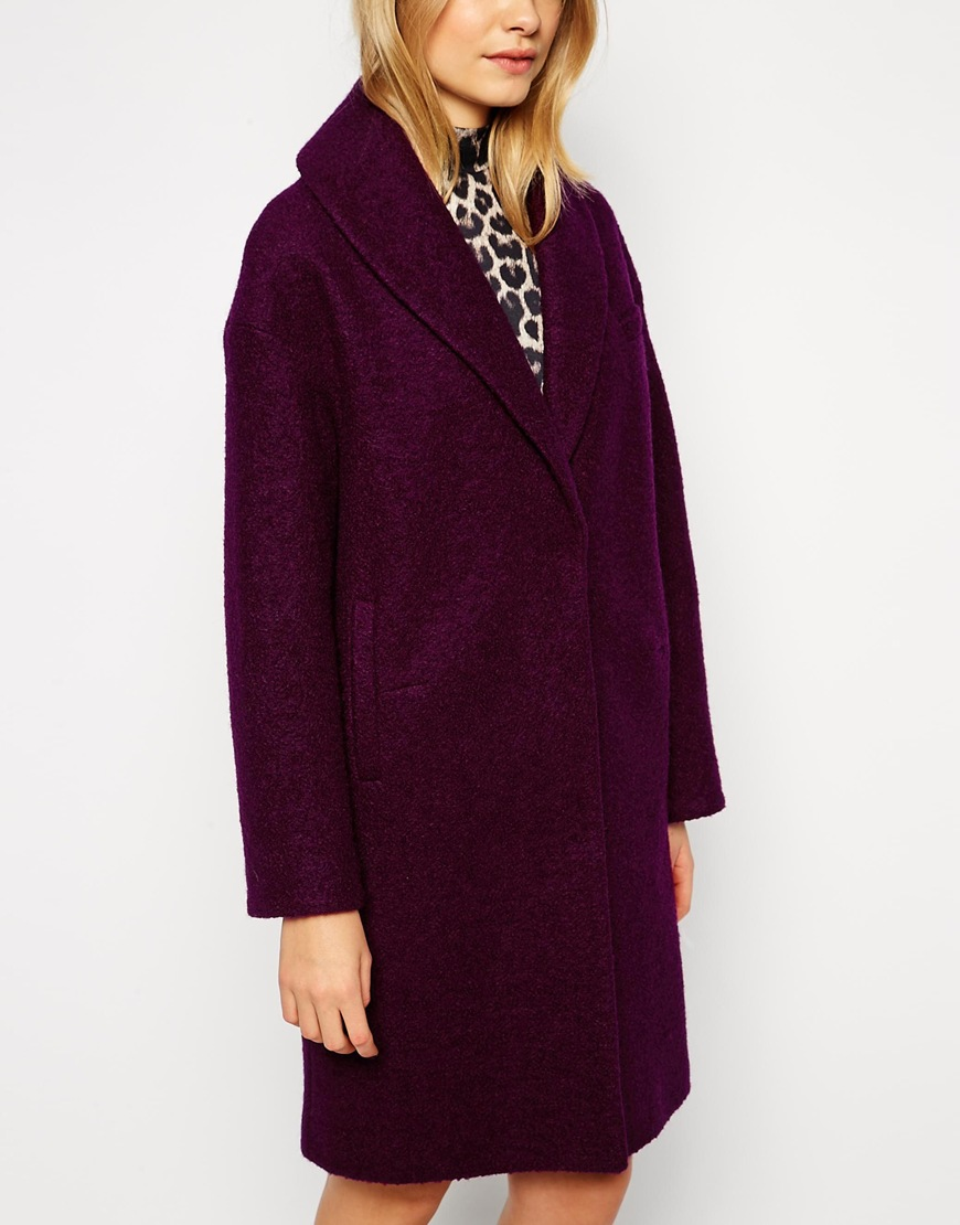 ASOS Coat With Shawl Collar at asos.com