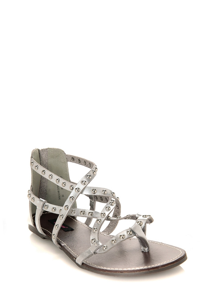 Gladiator Studded Strappy Flat Sandals @ Cicihot Sandals Shoes online store sale:Sandals,Thong Sandals,Women's Sandals,Dress Sandals,Summer Shoes,Spring Shoes,Wooden Sandal,Ladies Sandals,Girls Sandals,Evening Dress Shoes