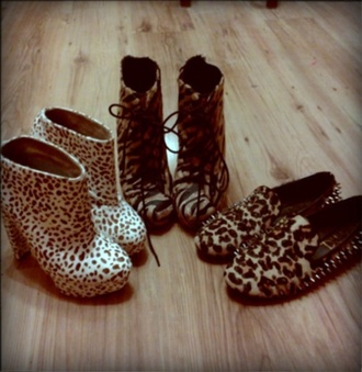 shoes heels high heels booties boots print pattern animal studs lace up studded leopard print wedges slippers