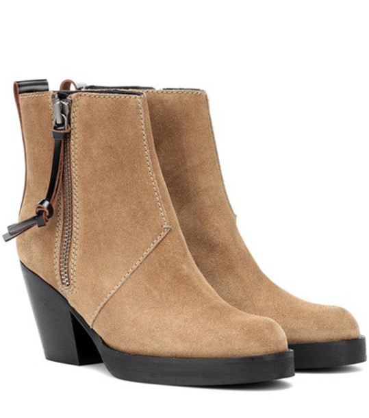 Acne Studios Suede ankle boots in beige / beige