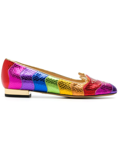 charlotte olympia rainbow women shoes leather