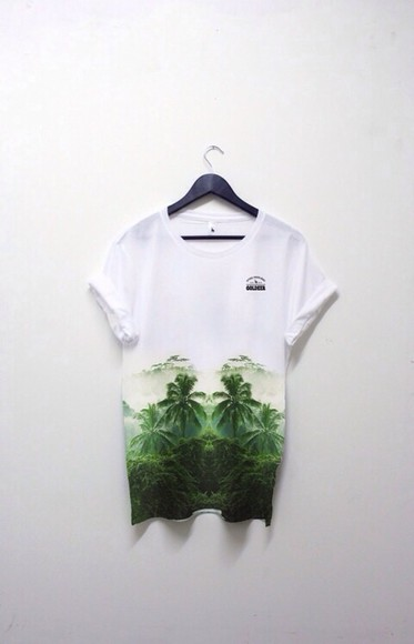 t-shirt baggy tshirt oversized oversized shirt tshirt dress palm trees