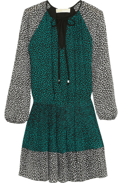 MICHAEL Michael Kors | Printed georgette mini dress | NET-A-PORTER.COM