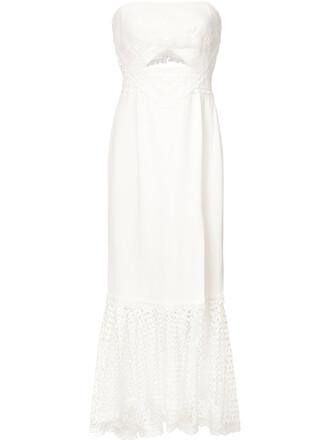 dress women spandex white silk