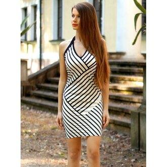 dress rose wholesale summer dress bodycon dress style black and white fashion stripes