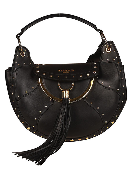 purse leather black bag
