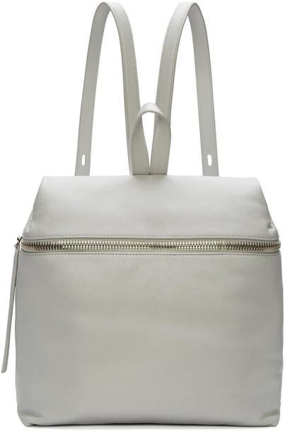 kara backpack leather backpack leather grey bag