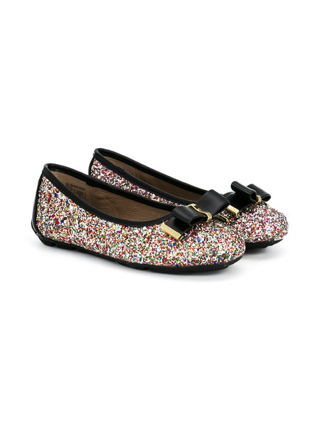 Michael Kors Kids bow glitter shoes leather