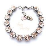 jewels,siggy jewelry,bracelets,tennis bracelet,swarovski,bling,sparkle,birthday gifts for her,elegant,style,fashion,neutral,champagne