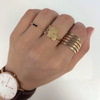 jewels gold rings and watch gold ring