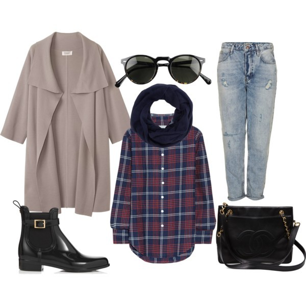 the sams sunglasses blouse sweater coat jeans shoes bag