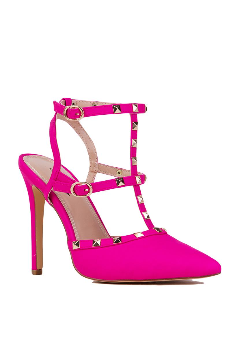 Hot Pink Studded Heels
