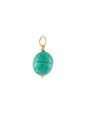 pendant turquoise green jewels