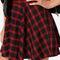 Plaid school red plaid mini skirt