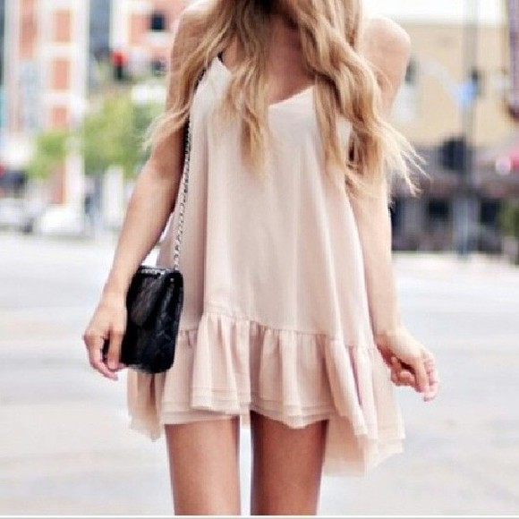 blouse cream dress short dress beige dress skirt shoes