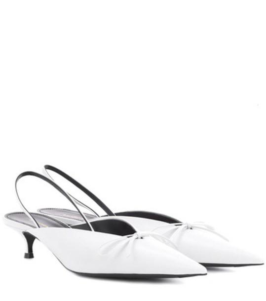 Balenciaga pumps leather white shoes