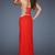 Strapless Side Slit Cutouts Red Long Prom Dress [Strapless Side Slit Red Long Dress] - $160.00 : Discover Unique Dresses Online at PromUnique.com