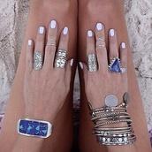 jewels,blue,rihanna,bohemian,ring,cute,hipster,festival