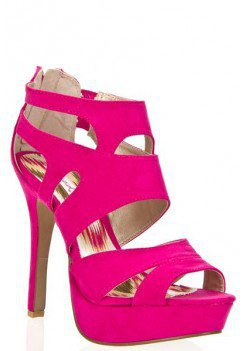 SUEDE PLATFORM CUT OUT BACK ZIPPER HIGH HEEL SANDAL-Heels-prom