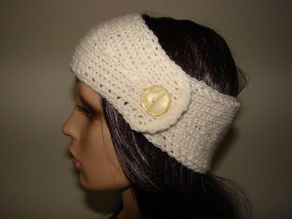 100 wool crochet knit headband woman teen young by otiliaboutique
