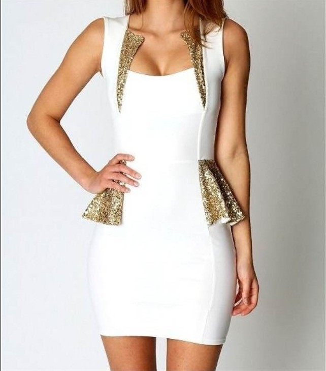 Free shoping flouncing sequined skirt tight party  dress notu882
