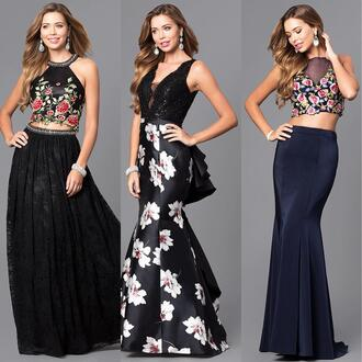 dress mermaid floral prom promgirl gown trumpet skirt i need this help important