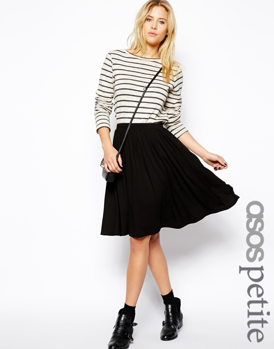 PETITE Midi Skater Skirt at asos.com